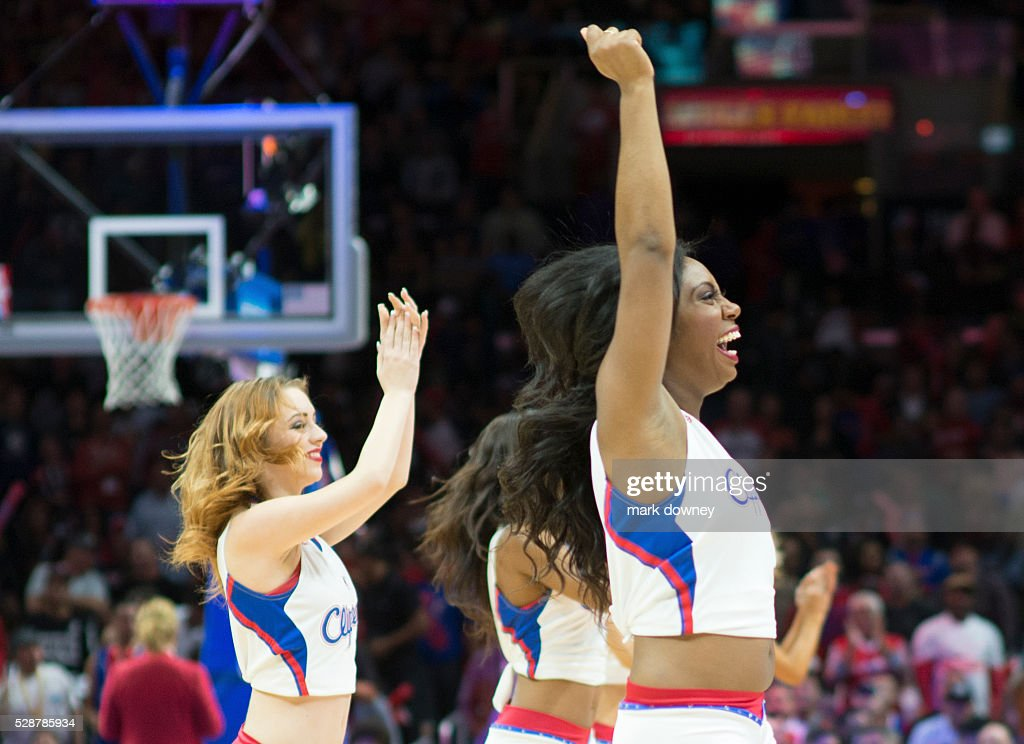Los Angeles Clippers Spirit Dance Team performing