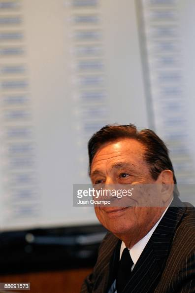 Los Angeles Clippers team owner Donald T Sterling watches the 2009 NBA Draft from the Clippers Training Center June 25 2009 in Playa Vista California...