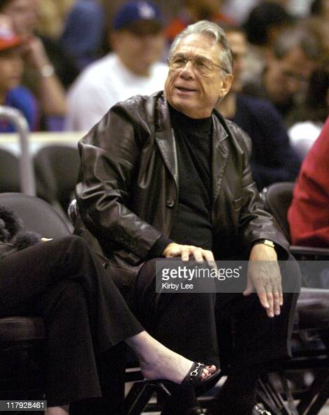 Los Angeles Clipppers owner Donald Sterling aka Donald T Sterling watches game against the New Jersey Nets at the Staples Center in Los Angeles Calif...