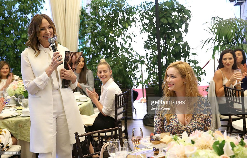 Los Angeles Confidential Publisher Alison Miller and actress Christina Hendricks attend the Los Angeles Confidential Women of Influence Celebration Hosted by Christina Hendricks on July 16, 2015 at the Four Seasons Hotel Los Angeles at Beverly Hills in Los Angeles, California.