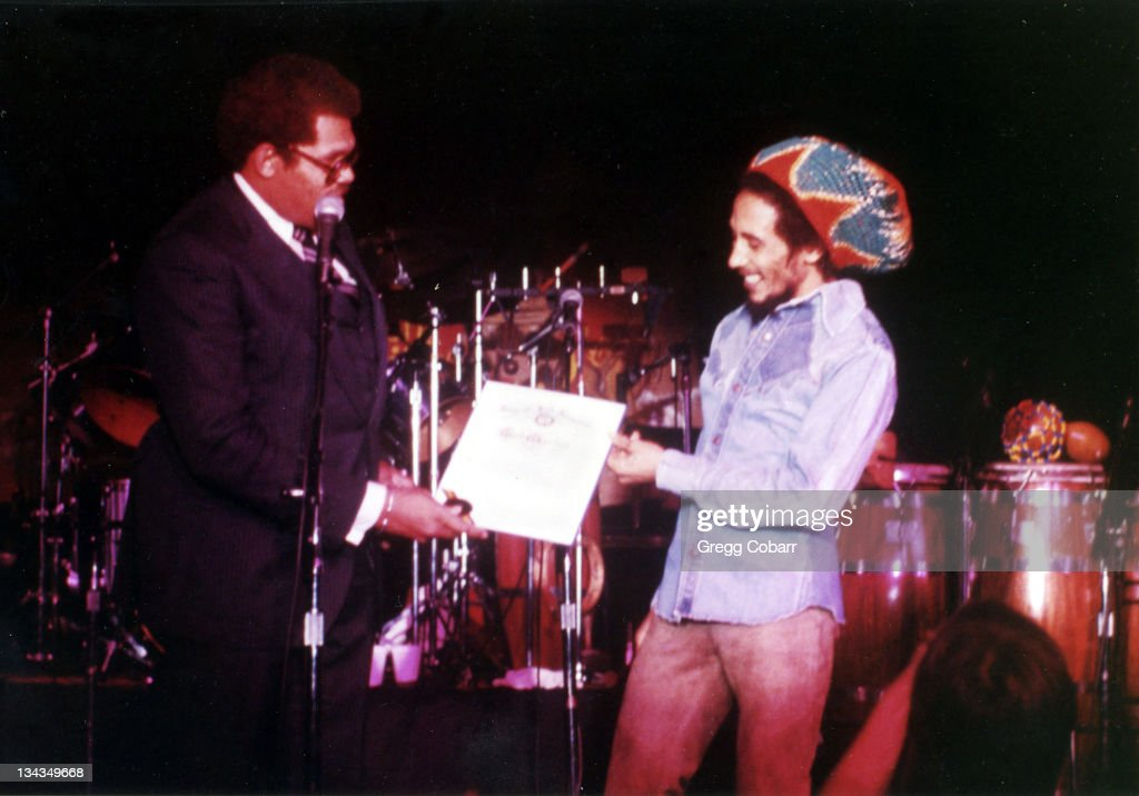 Los Angeles Councilman David Cunningham and Bob Marley