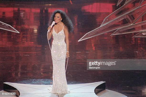 Diana Ross performing at the Academy Awards in Los Angeles