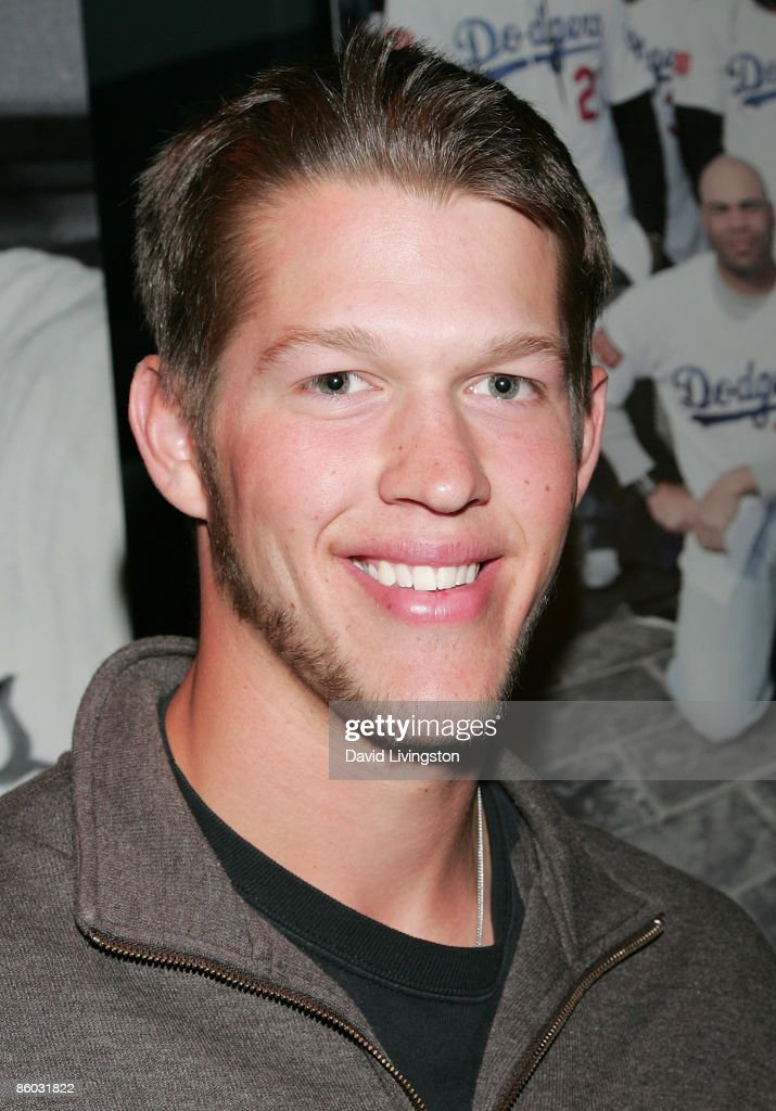 Los Angeles Dodger pitcher Clayton Kershaw attends the premiere of 'Bluetopia' at the Pacific Design Center on April 18 2009 in West Hollywood...