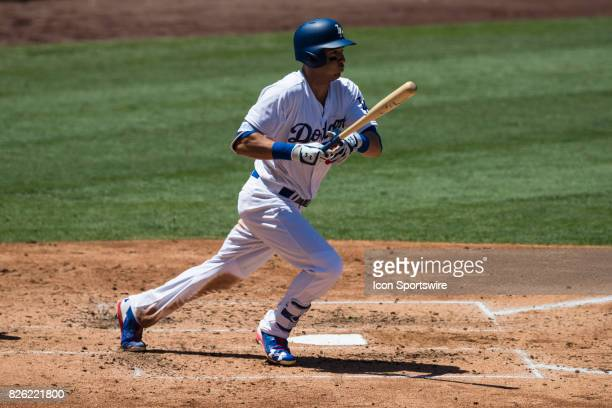 Los Angeles Dodgers first baseman Cody Bellinger during the MLB regular season game between the San Francisco Giants and the Los Angeles Dodgers at...