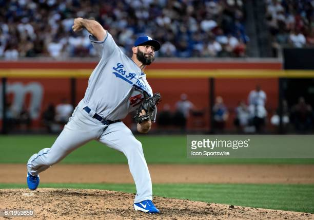 Los Angeles Dodgers pitcher Chris Hatcher throws in the seventh inning of the MLB baseball game between the Dodgers and the Arizona Diamondbacks on...