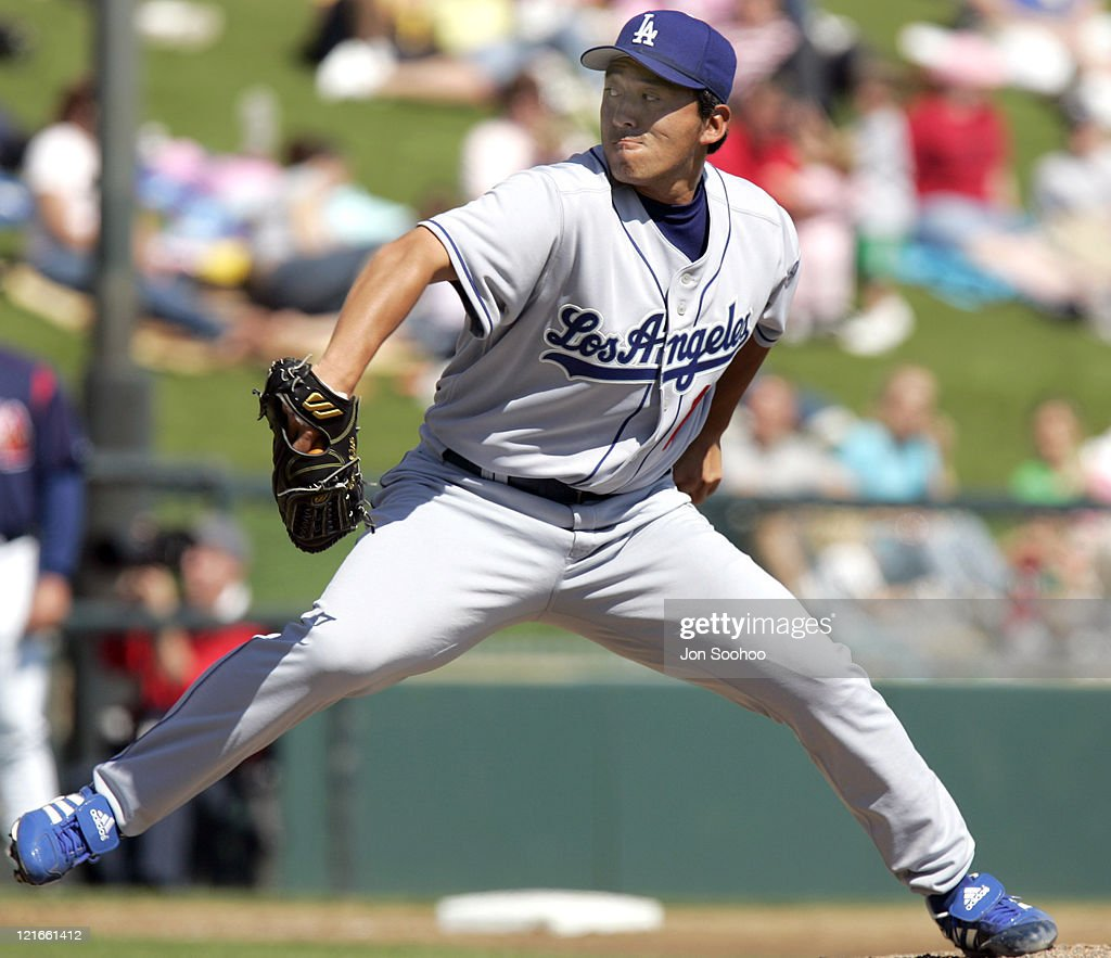 Los Angeles Dodgers pitcher Kazuhisa Ishii against Atlanta Braves during the fourth inning at Cracker Jack Stadium in Kissimmee Florida Friday March...