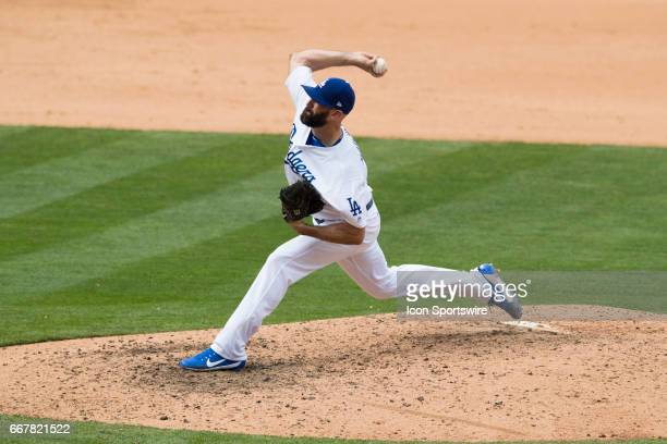 Los Angeles Dodgers relief pitcher Chris Hatcher during the MLB regular season baseball game between the San Diego Padres and the Los Angeles Dodgers...