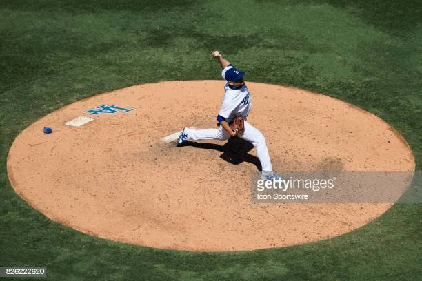 Los Angeles Dodgers relief pitcher Luis Avilan during the MLB regular season game between the San Francisco Giants and the Los Angeles Dodgers at...
