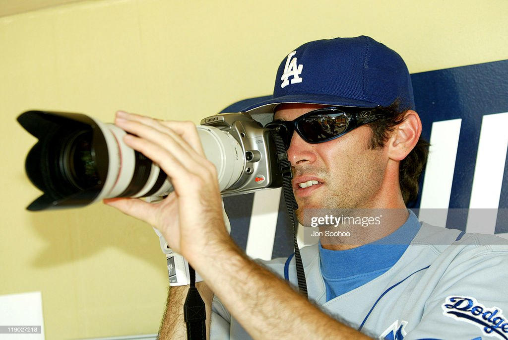 Los Angeles Dodgers' Shawn Green prior to game during the game between the San Diego Padres and the Los Angeles Dodgers at Petco Park in San Diego...