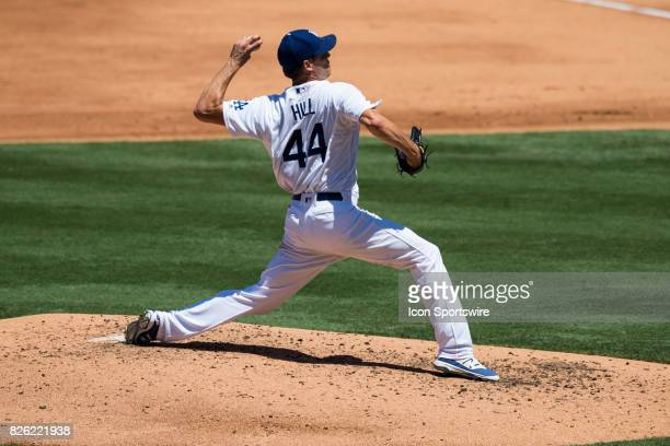 Los Angeles Dodgers starting pitcher Rich Hill during the MLB regular season game between the San Francisco Giants and the Los Angeles Dodgers at...