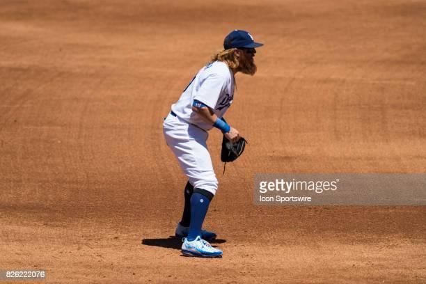 Los Angeles Dodgers third baseman Justin Turner during the MLB regular season game between the San Francisco Giants and the Los Angeles Dodgers at...