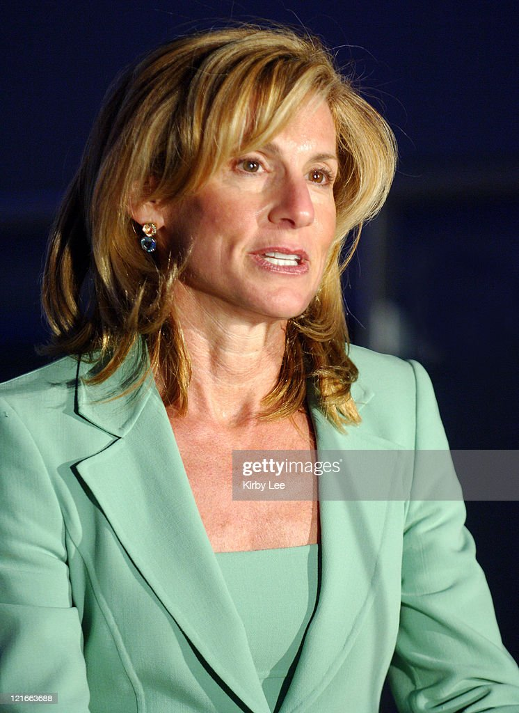 Los Angeles Dodgers Vice Chairman Jamie McCourt the wife of owner Frank McCourt at press conference to announce a twoyear contract extension for...