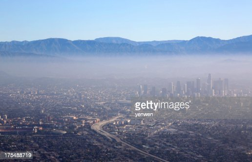 Los Angeles Downtown Aerial View