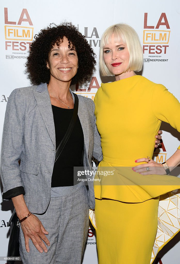 Los Angeles Film Festival director <a gi-track='captionPersonalityLinkClicked' href=/galleries/search?phrase=Stephanie+Allain&family=editorial&specificpeople=2079610 ng-click='$event.stopPropagation()'>Stephanie Allain</a> (L) and writer/director Gren Wells, wearing a Jaeger-LeCoultre watch attend the premiere of 'The Road Within' during the 2014 Los Angeles Film Festival at Regal Cinemas L.A. Live on June 18, 2014 in Los Angeles, California.