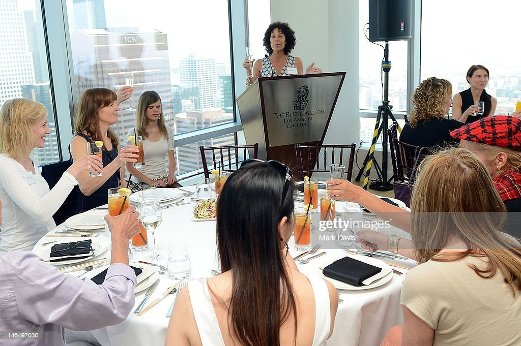 Los Angeles Film Festival Director <a gi-track='captionPersonalityLinkClicked' href=/galleries/search?phrase=Stephanie+Allain&family=editorial&specificpeople=2079610 ng-click='$event.stopPropagation()'>Stephanie Allain</a> and guests attend the Woman of Animation Lunch during the 2012 Los Angeles Film Festival at Ritz Carlton on June 17, 2012 in Los Angeles, California.