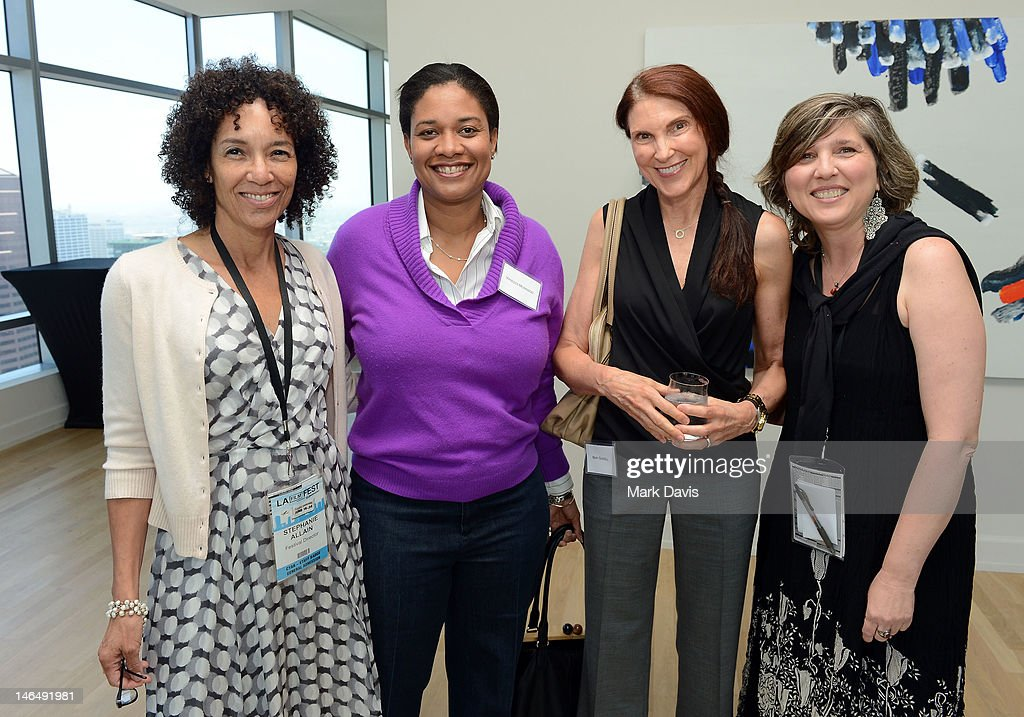 Los Angeles Film Festival Director <a gi-track='captionPersonalityLinkClicked' href=/galleries/search?phrase=Stephanie+Allain&family=editorial&specificpeople=2079610 ng-click='$event.stopPropagation()'>Stephanie Allain</a>, Vanessa Morrison, Mary Sandell, and Film Independent director of education Maria Bozzi attend the Woman of Animation Lunch during the 2012 Los Angeles Film Festival at Ritz Carlton on June 17, 2012 in Los Angeles, California.