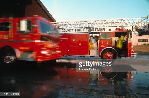 Los Angeles fire station : Stock Photo