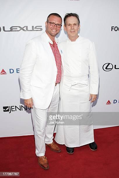 Los Angeles Food Wine Festival cofounder David Bernahl and chef Thomas Keller attend the 2013 Los Angeles Food Wine Festival 'Festa Italiana With...