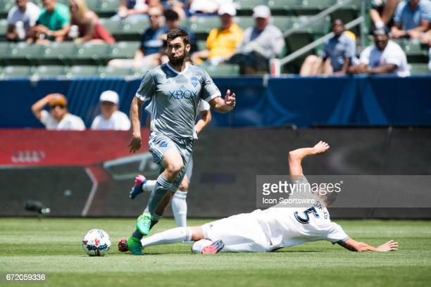 Los Angeles Galaxy defender Daniel Steres during the game between the LA Galaxy and the Seattle Sounders on April 23 at StubHub Center in Carson CA