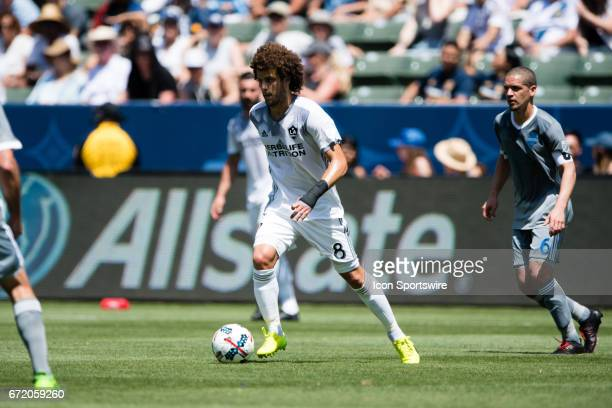 Los Angeles Galaxy midfielder Joao Pedro during the game between the LA Galaxy and the Seattle Sounders on April 23 at StubHub Center in Carson CA
