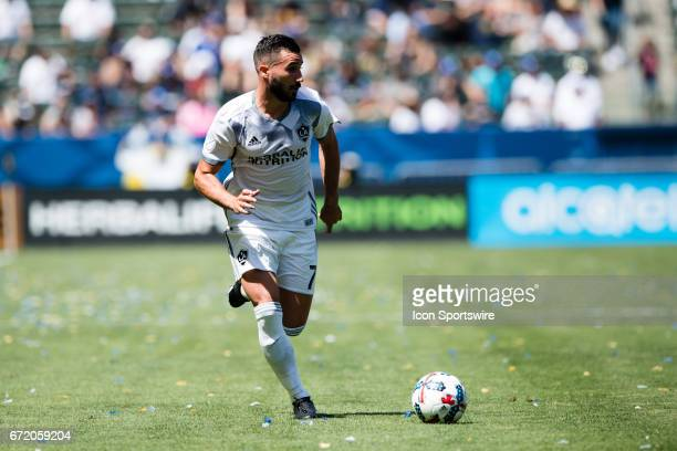 Los Angeles Galaxy midfielder Romain Alessandrini during the game between the LA Galaxy and the Seattle Sounders on April 23 at StubHub Center in...
