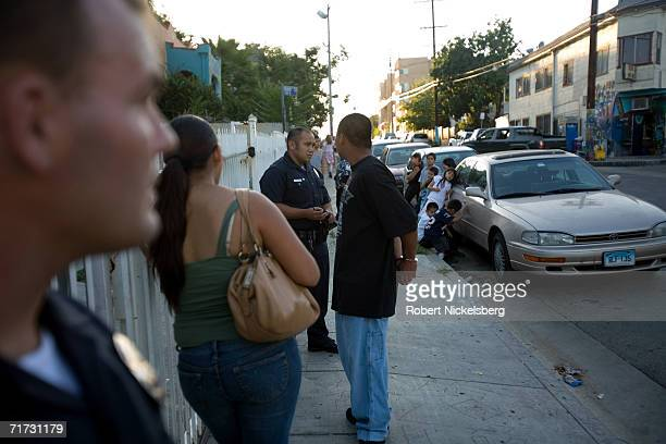 A Los Angeles gang police officer questions a 17 year old hispanic gang member caught associating with another member and violating his probation on...