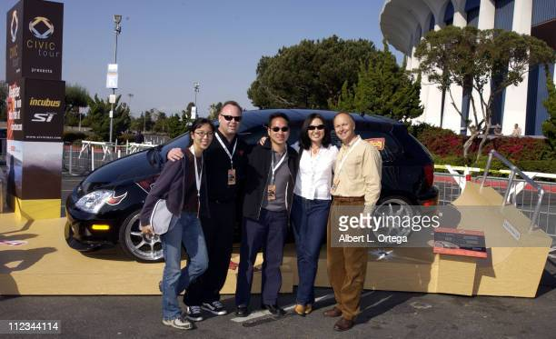Los Angeles Honda executives during KROQ Award Honda Civic Si Custom Designed By Incubus at The Forum in Inglewood California United States