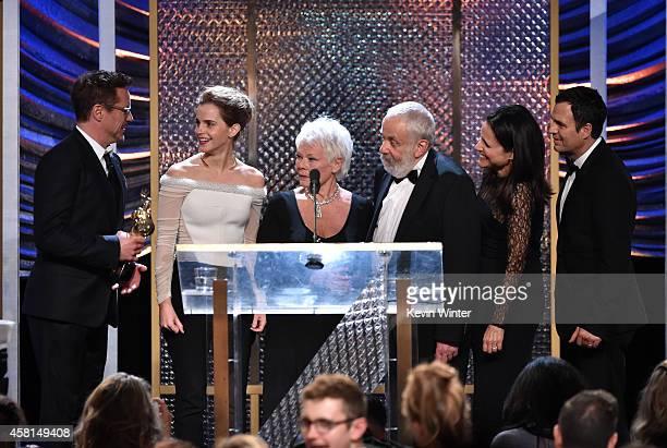 BAFTA Los Angeles Jaguar Britannia Awards recipients Robert Downey Jr Emma Watson Dame Judi Dench Mike Leigh Julia LouisDreyfus and Mark Ruffalo...