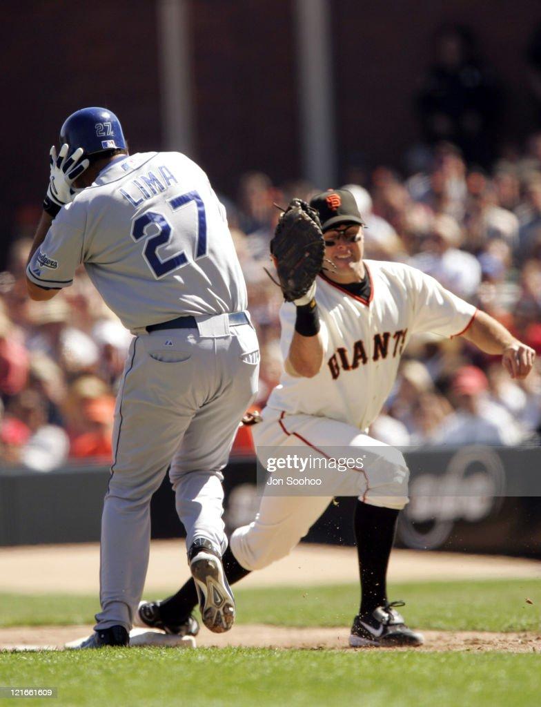 Los Angeles Dodgers vs San Francisco Giants - September 25, 2004