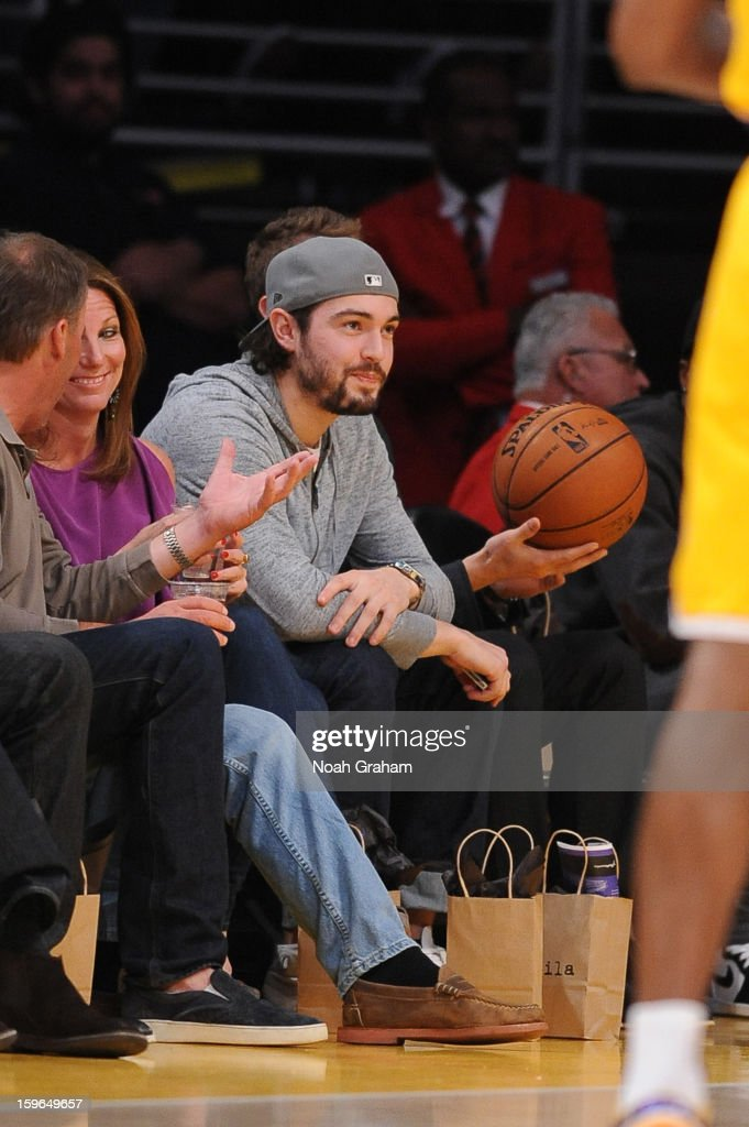 Los Angeles Kings hockey player Drew Doughty attends a game between the Miami Heat and the Los Angeles Lakers at Staples Center on January 15, 2013 in Los Angeles, California.