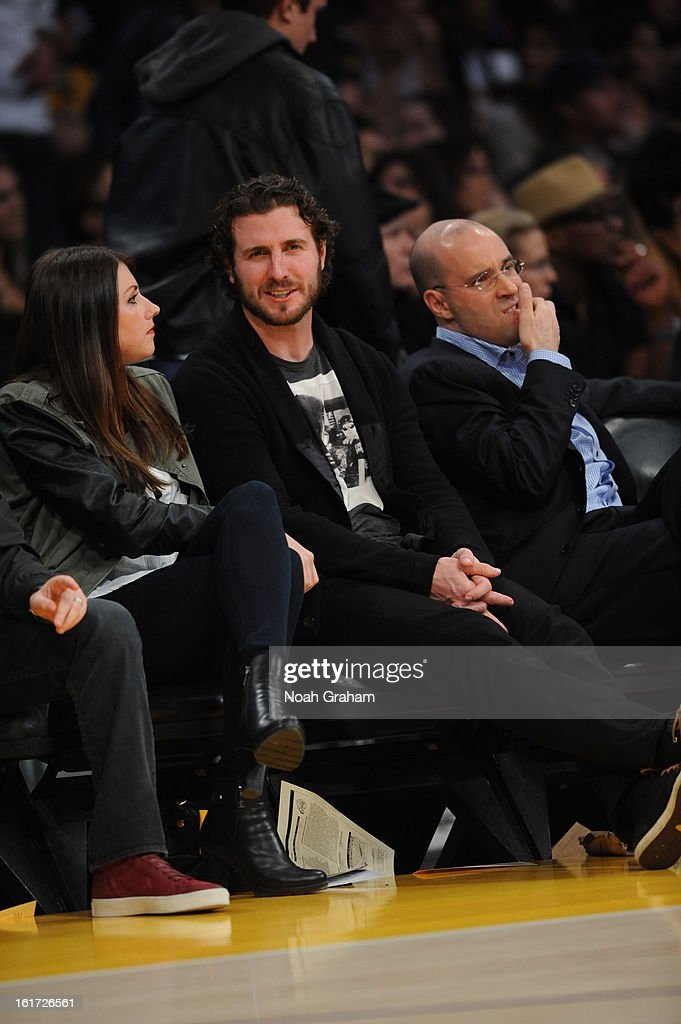 Los Angeles Kings player Mike Richards attends a game between the Los Angeles Clippers and the Los Angeles Lakers at Staples Center on February 14, 2013 in Los Angeles, California.