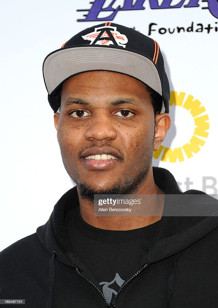 Los Angeles Laker <a gi-track='captionPersonalityLinkClicked' href=/galleries/search?phrase=Devin+Ebanks&family=editorial&specificpeople=5293899 ng-click='$event.stopPropagation()'>Devin Ebanks</a> attends the Lakers Casino Night fundraiser benefiting the Lakers Youth Foundation at Club Nokia on March 10, 2013 in Los Angeles, California.