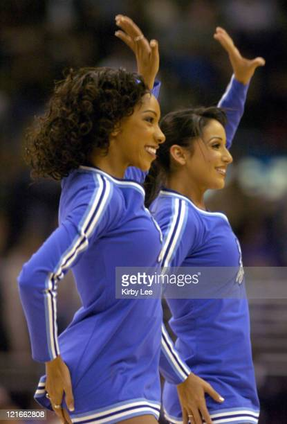 Los Angeles Laker Girl cheerleader Lynisha Hyche performs during the game between the Los Angeles Lakers and the Washington Wizards at the Staples...