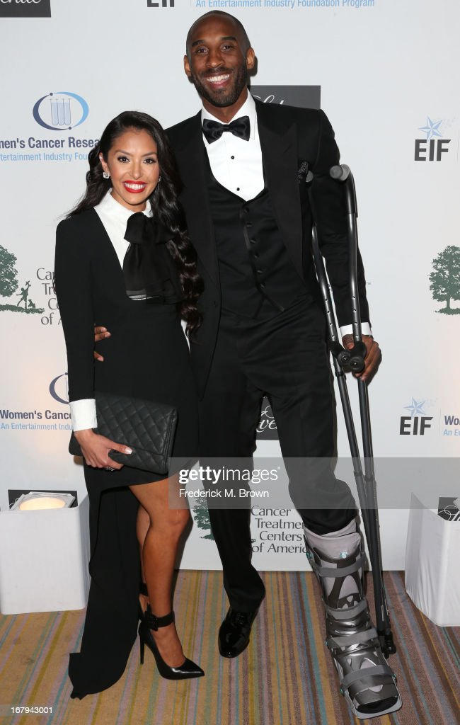 Los Angeles Laker <a gi-track='captionPersonalityLinkClicked' href=/galleries/search?phrase=Kobe+Bryant&family=editorial&specificpeople=201466 ng-click='$event.stopPropagation()'>Kobe Bryant</a> and his wife Vanessa attend the EIF Women's Cancer Research Fund's 16th Annual 'An Unforgettable Evening' presented by Saks Fifth Avenue at the Beverly Wilshire Four Seasons Hotel on May 2, 2013 in Beverly Hills, California.