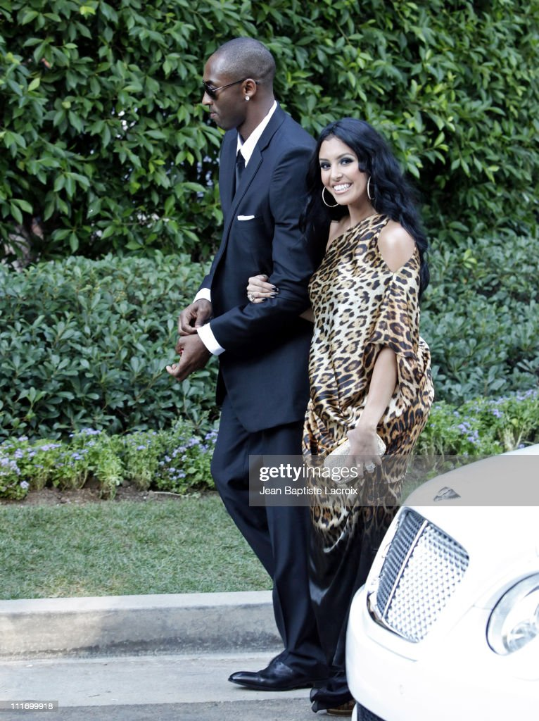 Los Angeles Laker Kobe Bryant and Vanessa Bryant attend the wedding of Khloe Kardashian and LA Lakers forward Lamar Odom at the Bel Air estate of...