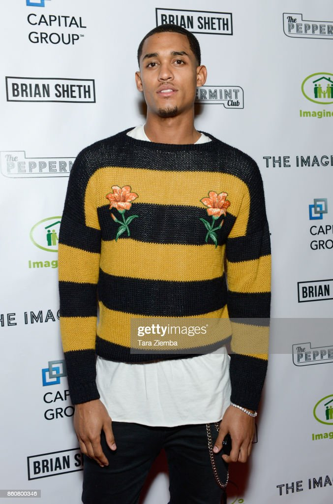 Los Angeles Lakers basketball player Jordan Clarkson attends The Imagine Ball at The Peppermint Club on October 12, 2017 in Los Angeles, California.