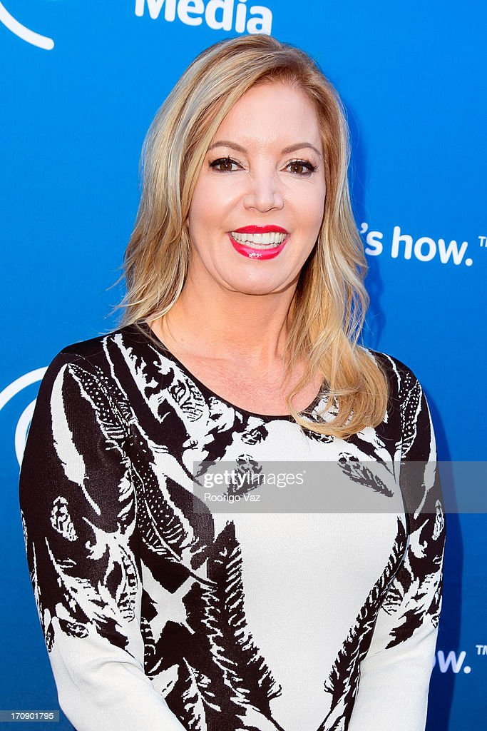 Los Angeles Lakers EVP Jeanie Buss attends the Time Warner Cable Media (TWC Media) 'View From The Top' Upfront at Vibiana on June 19, 2013 in Los Angeles, California.