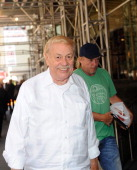 Los Angeles Lakers owner Dr Jerry Buss arrives for NBA labor negotiations at Sheraton New York Hotel Towers on October 20 2011 in New York City