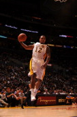 Los Angeles Lakers point guard Shannon Brown handles the ball during the game against the Golden State Warriors at Staples Center on October 31 2010...