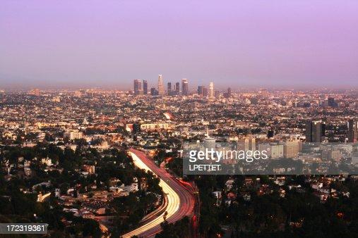 Los Angeles Long Exposure at Dusk