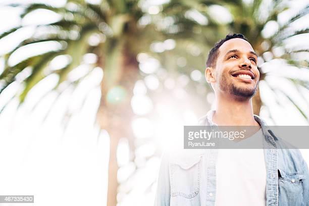 Los Angeles Man in Summer Sun