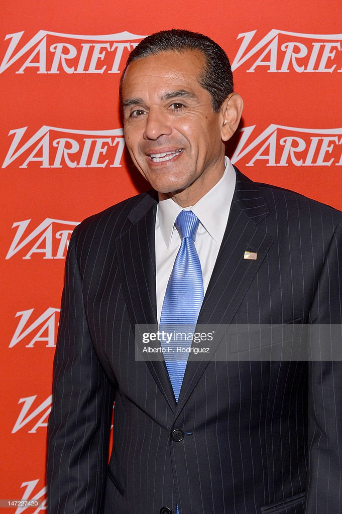 Los Angeles Mayor Antonio Vaillaraigosa poses during Variety's Venture Capital & New Media Summit in association with International ESQ at Sofitel Hotel on June 27, 2012 in Los Angeles, California.