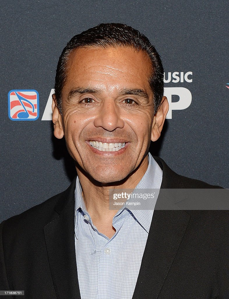 Los Angeles mayor Antonio Villaraigosa arrives at the Grey Goose Cherry Noir Flavored Vodka VIP after party during the 2013 BET Experience at The Conga Room at L.A. Live on June 28, 2013 in Los Angeles, California.