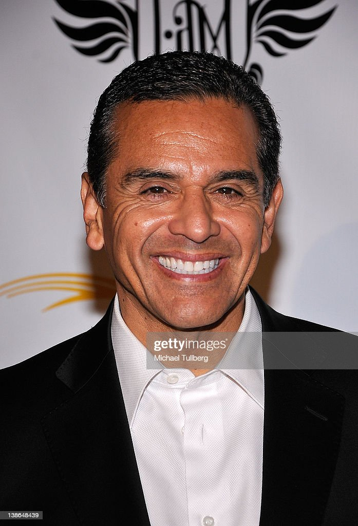 Los Angeles Mayor <a gi-track='captionPersonalityLinkClicked' href=/galleries/search?phrase=Antonio+Villaraigosa&family=editorial&specificpeople=178925 ng-click='$event.stopPropagation()'>Antonio Villaraigosa</a> arrives at will.i.am of the Black Eyed Peas' First Annual TRANS4M i.am.angel Pre-GRAMMY event to benefit the neighborhood of Boyle Heights, Los Angeles at Hollywood Palladium on February 9, 2012 in Hollywood, California.