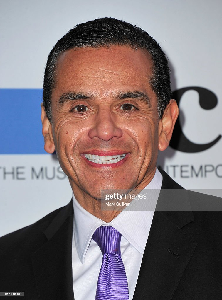 Los Angeles Mayor <a gi-track='captionPersonalityLinkClicked' href=/galleries/search?phrase=Antonio+Villaraigosa&family=editorial&specificpeople=178925 ng-click='$event.stopPropagation()'>Antonio Villaraigosa</a> arrives for 'Yesssss!' 2013 MOCA Gala, Celebrating The Opening Of The Exhibition Urs Fischer at MOCA Grand Avenue on April 20, 2013 in Los Angeles, California.