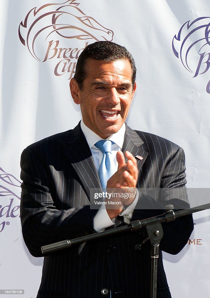 Los Angeles Mayor Antonio Villaraigosa attends the Breeders' Cup Press Conference at Nokia Plaza L.A. LIVE on October 25, 2012 in Los Angeles, California.