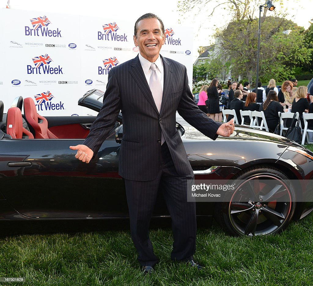 Los Angeles Mayor Antonio Villaraigosa attends the BritWeek Los Angeles Red Carpet Launch Party with Official Vehicle Sponsor Jaguar on April 23, 2013 in Los Angeles, California.