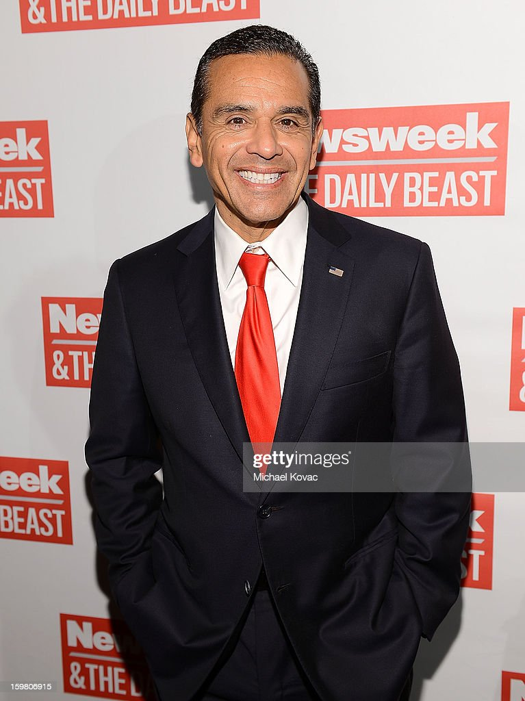 Los Angeles Mayor <a gi-track='captionPersonalityLinkClicked' href=/galleries/search?phrase=Antonio+Villaraigosa&family=editorial&specificpeople=178925 ng-click='$event.stopPropagation()'>Antonio Villaraigosa</a> attends The Daily Beast Bi-Partisan Inauguration Brunch at Cafe Milano on January 20, 2013 in Washington, DC.