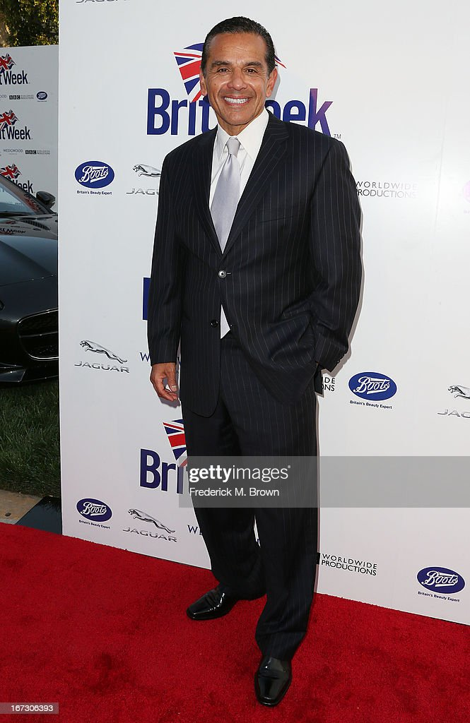 Los Angeles Mayor Antonio Villaraigosa attends the launch of the Seventh Annual Britweek Festival 'A Salute to Old Hollywood' on April 23, 2013 in Los Angeles, California.