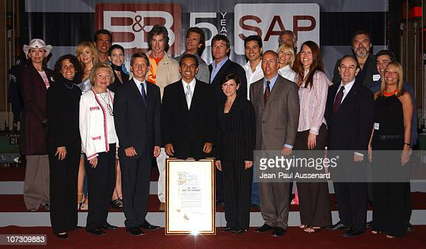 Los Angeles Mayor Antonio Villaraigosa cast and producers of 'The Bold and The Beautiful'